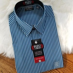 Men's medium dress shirt long sleeve checkers